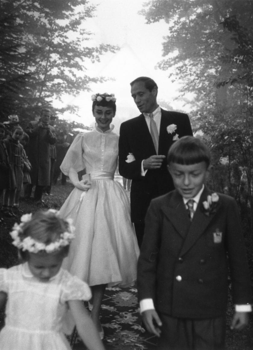 Wedding Audrey Hepburn and Mel Ferrer - Balmain (1954)