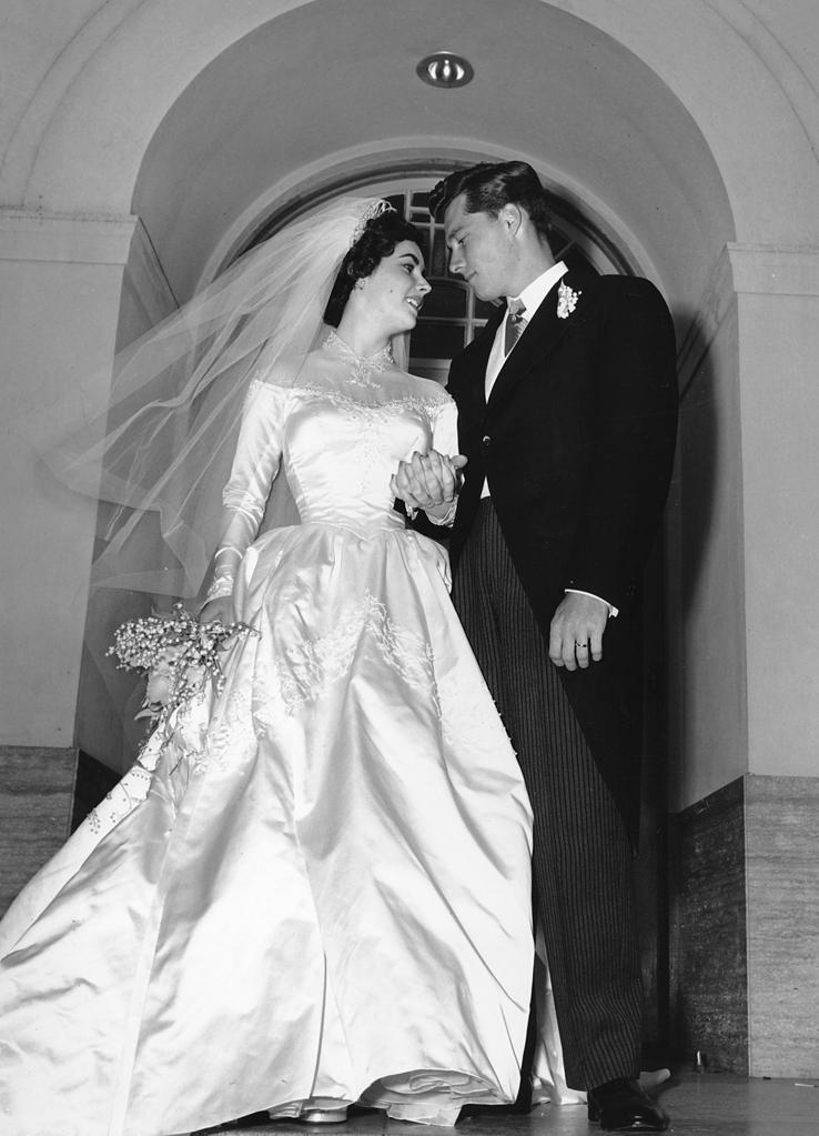 Wedding Elizabeth Taylor and Conrad Hilton Jr. - Helen Rose (1950)