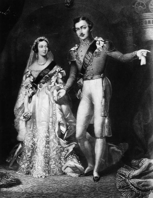 Wedding Queen Victoria and Albert of Saxe-Coburg and Gotha (1840)