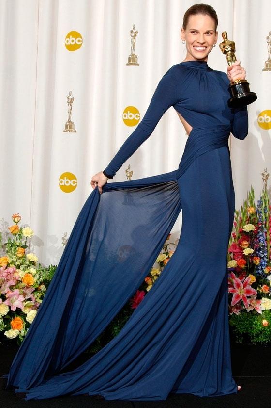 Hilary Swank - Guy Laroche - Oscars 2005 1