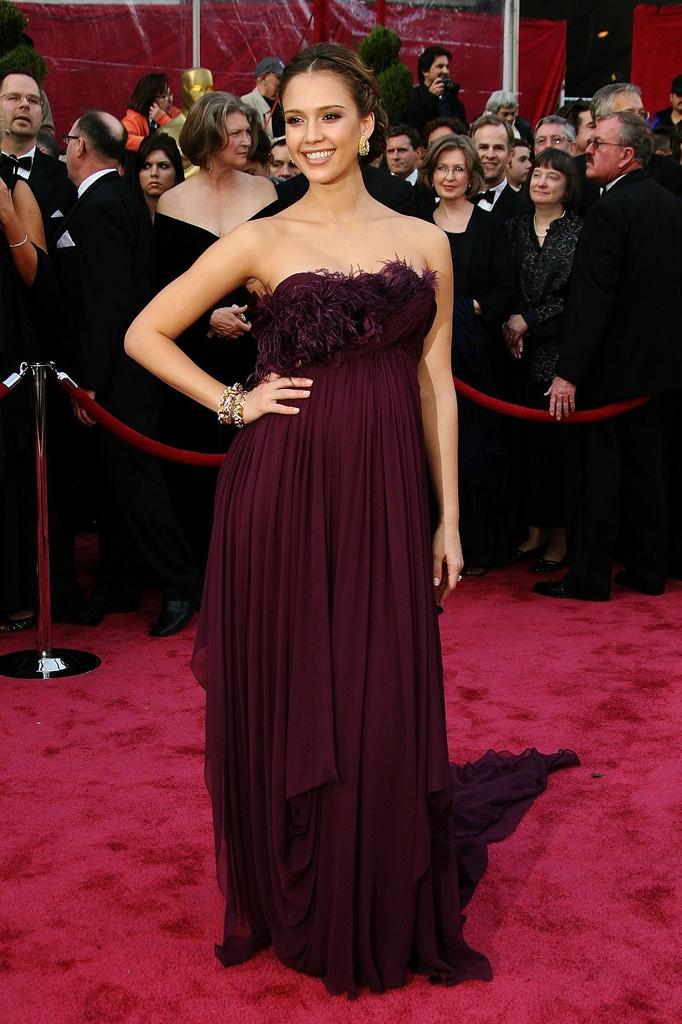 Jessica Alba - Marchesa - Oscars 2008
