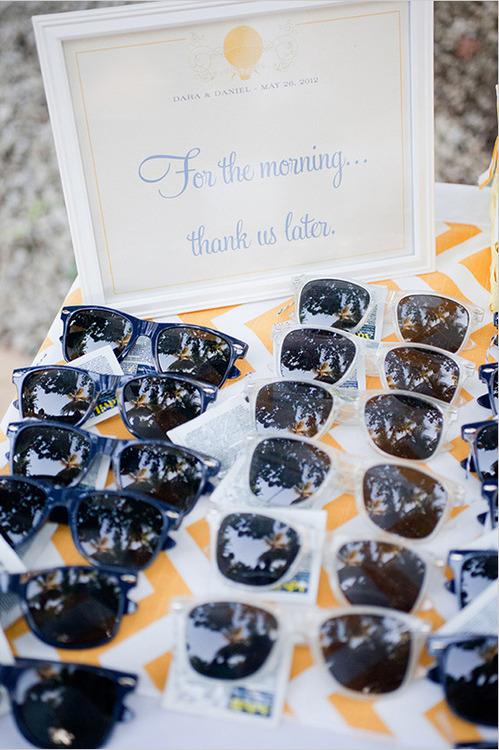Detalles practicos para invitados - Gafas de sol
