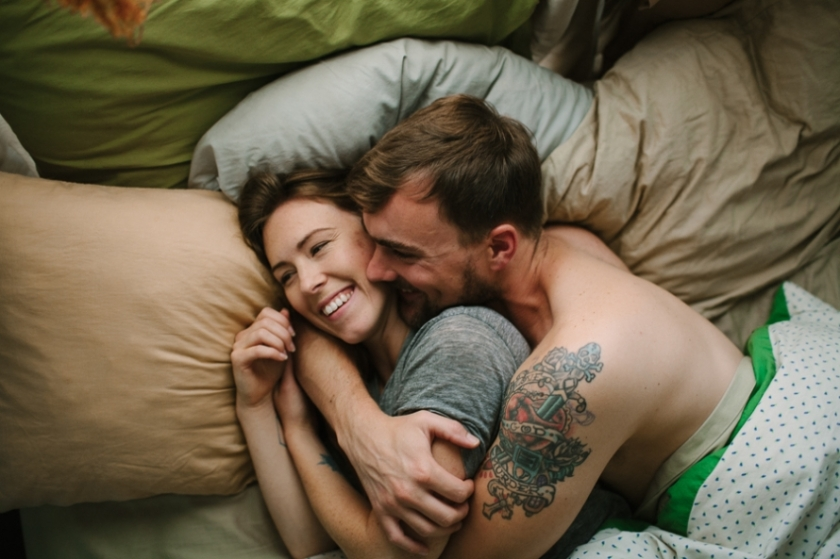 Una pareja en la intimidad