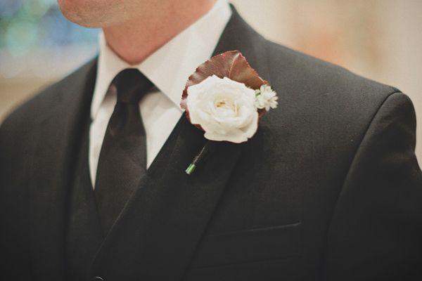 Una boda de invierno en Brooklyn - Boutonniere