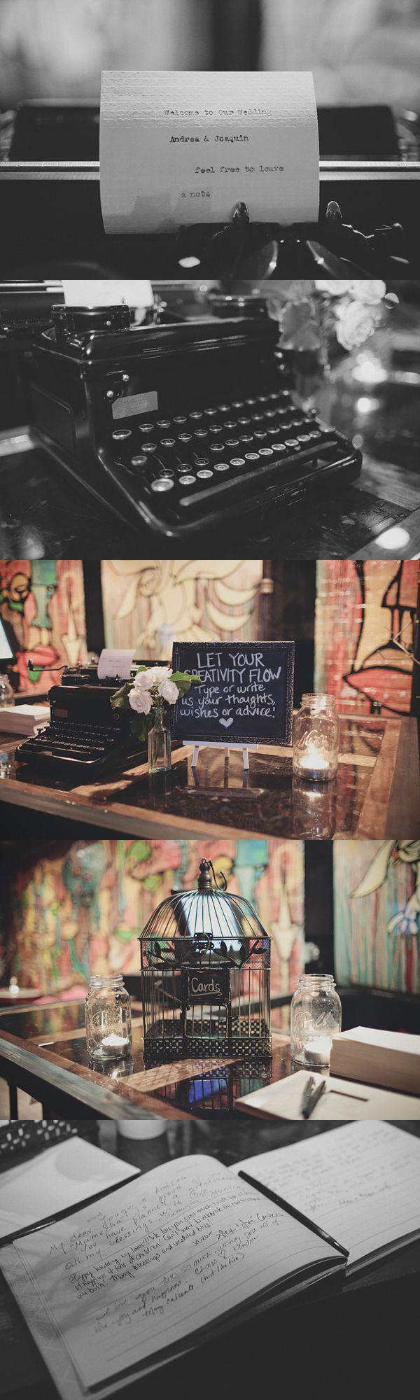 Una boda de invierno en Brooklyn - Libro de firmas