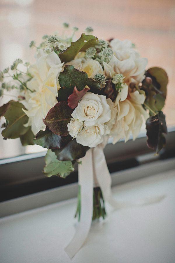 Una boda de invierno en Brooklyn - Ramo de novia