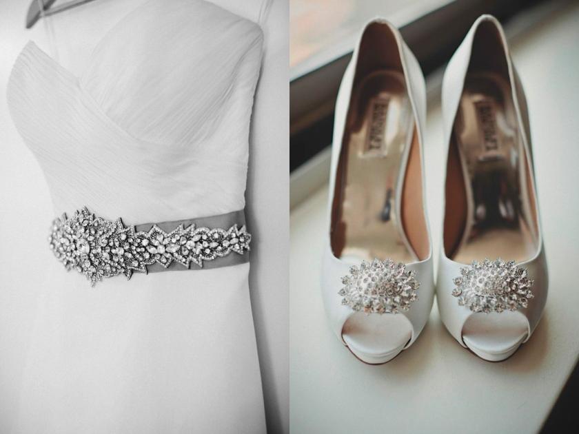Una boda de invierno en Brooklyn - Vestido y zapatos novia