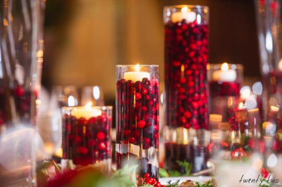 Boda en rojo pasión - Centro de mesa - Fruta