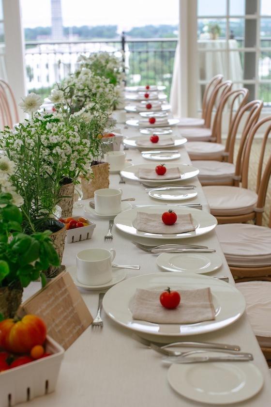Boda en rojo pasión - Centro de mesa - Verdura