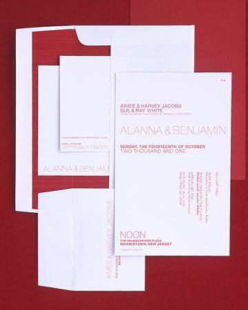 Boda en rojo pasión - Invitaciones