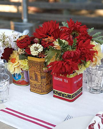 Boda en rojo pasión - Centro de mesa - Flores 2