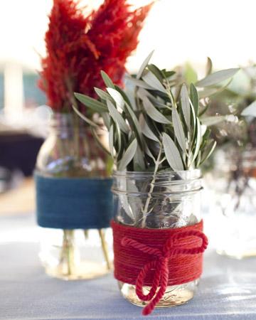 Boda en rojo pasión - Centro de mesa - Flores 3