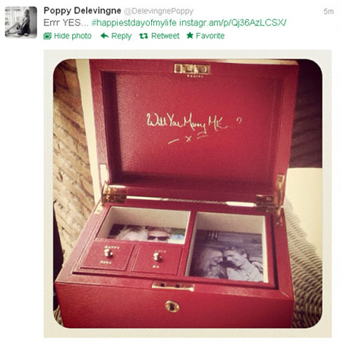 Poppy Delevingne engaged