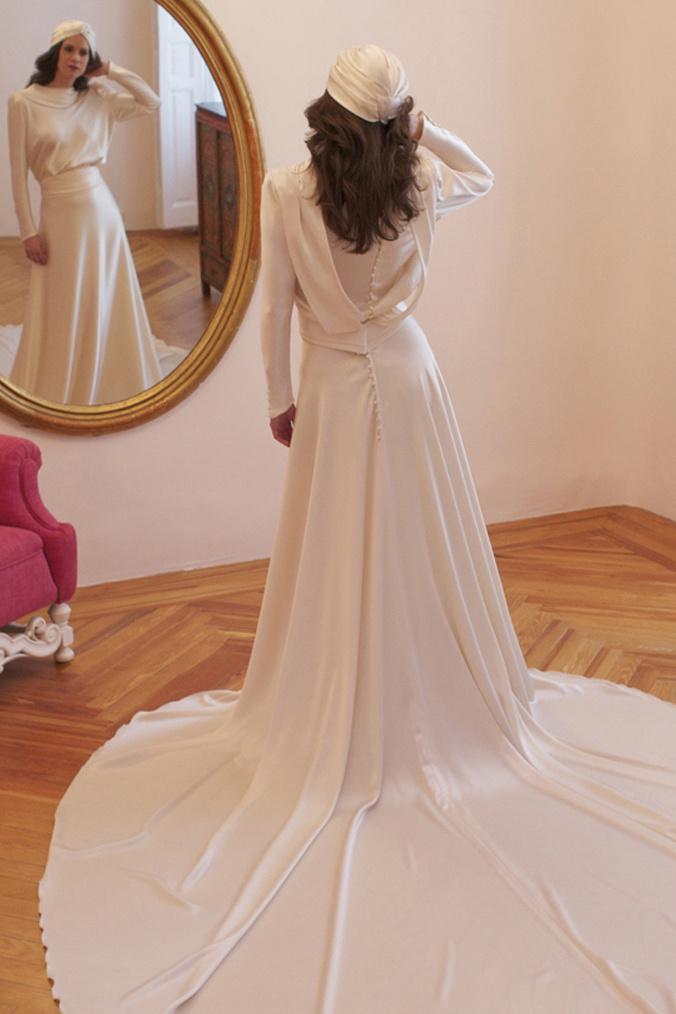 Vestido de novia - Aires retro, años 30 - 2. Basaldua